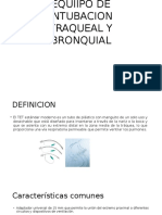 Equiipo de Intubacion Traqueal y Bronquial