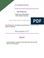 C Programming I - Karl W Broman