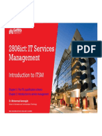 Week 01 - Introduction to IT Services Management