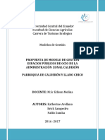 Propuesta de Modelo Administración Zonal Calderón