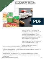 Alimentos Incompatibles Con Los Antibioticos - Barcelona Alternativa