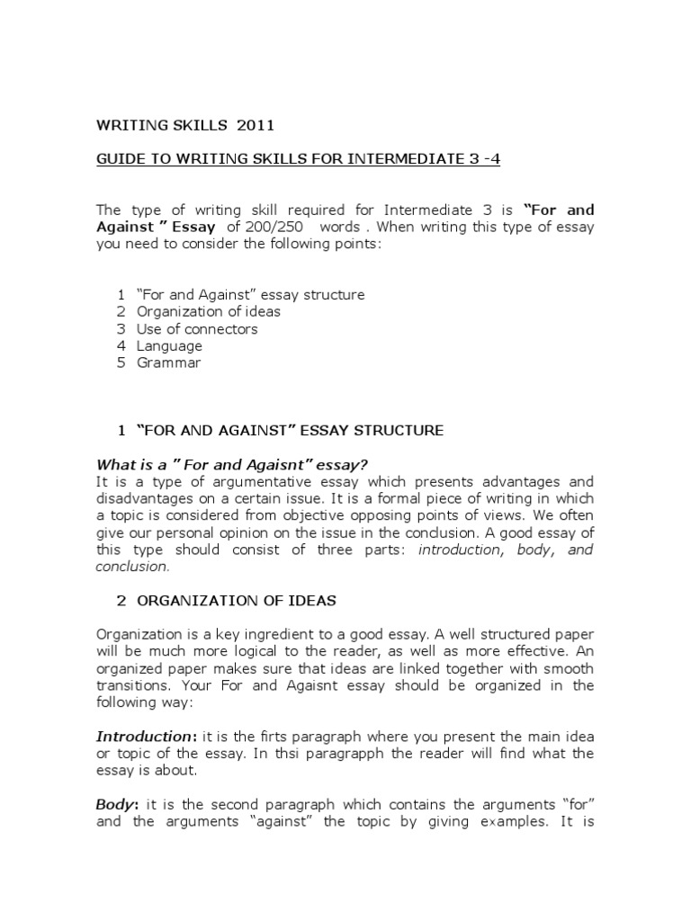 Write An Argumentative Essay Of About  Words On The Following   Write An Argumentative Essay Of About  Words On The Following Topic