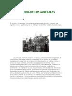 Historia de Los Minerales