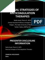 Reversal Strategies of Anticoagulant Agents