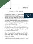 Comunicado Secretaría General de México