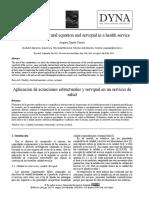 Aplicación de Ecuaciones Estructurales y Servqual en Un Servicio de Salud