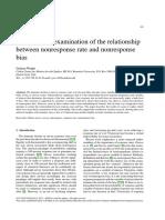 Nos Response Rate and Nonresponse Bias