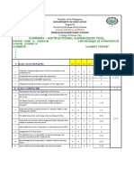 Instructional Supervision Tool Template