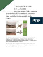 Sendero Ambiental Para Ecoturismo Responsable en La Tatacoa