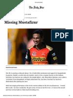 Missing Mustafizur