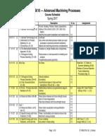 AdvMach - Course Schedule (2017)