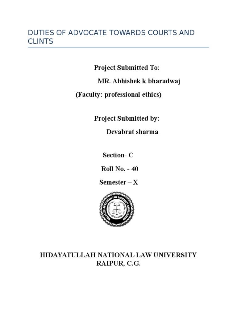 duties of advocate towards court