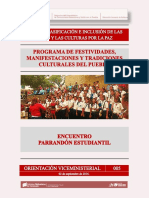 Orientacion Viceministerial 005 - Encuentro Parrandon Estudiantil