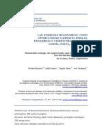 LAS ENERGÍAS RENOVABLES COMO OPORTUNIDAD Y DESAFÍO PARA EL DESARROLLO TERRITORIAL VALLE DE LERMA, SALTA, ARGENTINA