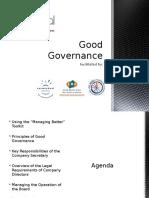 Good Governance Training Slides