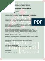 Comunicado Interno - 005 - Nova Administradora