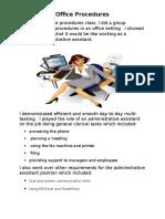 office procedures 1