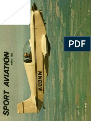 Sport Aviation Mar 1975 Experimental Aircraft Association