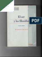 Texto 2 Gilson-El Ser y Los Filósofos