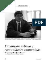 Expansión urbana y comunidades campesinas