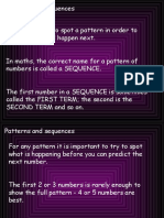 patterns and sequences yr 4
