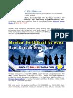 Jasa Sertifikasi ISO | Sertifikasi ISO | Wa +62 857 1027 2813