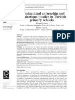 OCB and Organizational Justice in Turkish Primary School
