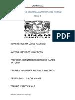 Practica No. 2 Metodos numericos.docx