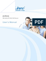 Air3G ManualAIR3G Wireless-N PoE 3G Router User's Manual