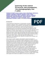 Genome Sequencing of the Extinct Eurasian Wild Aurochs