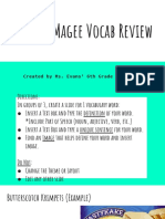 maniac magee vocab review