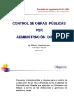 Obras Públicas por Adm Directa