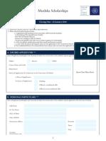 CEL 2106 . Portfolio 2 . Merdeka Scholarships Application Form 2016