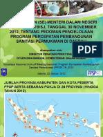 SE Mendagri Tentang Pedoman Pengelolaan PPSP Di Daerah