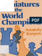 Anatoly Karpov - Miniatures From the World Champions - Batsford 1985