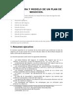 Estructura y Modelo de Un Plan de Negocios-1