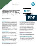 Hp Elitebook Revolve Data Sheet