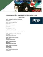 Programación Carnaval de Riosucio 2017