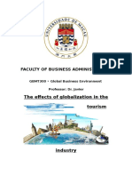Globalization in Tourism Industry