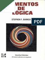 Elementos de Lógica, 5ta Edición - Stephen F. Barker