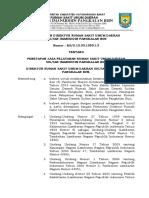 Peraturan Direktur Ttg Penetapan Jasa Pelayanan