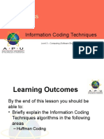 Lecture 13 Information Coding TechniquesHuffman