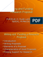 Writing and Funding