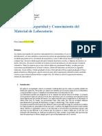 conocimiento y el uso correcto de los materiales del laboratorio