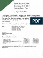 Brazoria CAD Budget 2016 - 2017