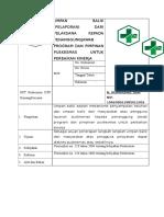 2.3.9.3 SOP Umpan Balik ( Pelaporan ) Dan Pelaksana Kepada Penanggung Jawab Dan Kepala Puskesmas Untuk Perbaikan Kinerja