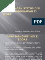 Perhitungan Status Gizi Anak Menggunakan Z-score