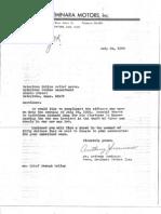 Letters to Lt. Richard Shea