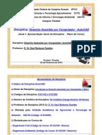 1) Aula - Unidade I (AutoCAD)