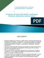 Program de Exercitii Pentru Evaluarea Nivelului Dezvoltarii Psohomotorii